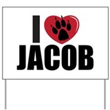 """I Heart Jacob"" Yard Sign"