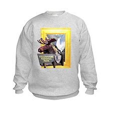 Yellowstone national park moose Sweatshirt