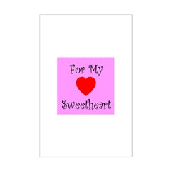 For My Sweetheart Posters