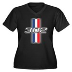 Engine 302 Women's Plus Size V-Neck Dark T-Shirt