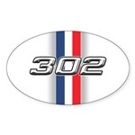 Engine 302 Oval Sticker (50 pk)