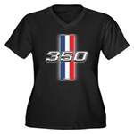 Engine 350 Women's Plus Size V-Neck Dark T-Shirt