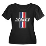 Engine 350 Women's Plus Size Scoop Neck Dark T-Shi
