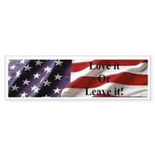 America! Love it or Leave it! Patriotic Bumper Sticker