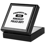 Property of Hinckley Police Dept Keepsake Box