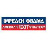 America's Exit Strategy Bumper Car Sticker