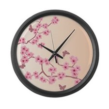 Funny Sakura Large Wall Clock