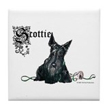 Celtic Scottish Terrier Tile Coaster