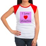 I Love America Women's Cap Sleeve T-Shirt