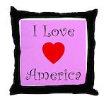 I Love America Throw Pillow