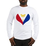 Filipino Heart Flag Long Sleeve T-Shirt
