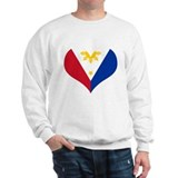 Filipino Heart Flag Sweatshirt