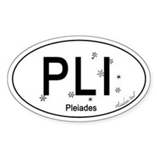 Pleiades Oval Car Decal
