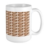Brown Wicker Look Large Mug