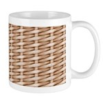 Brown Wicker Look Mug