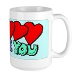 I Love You Model 1 Large Mug