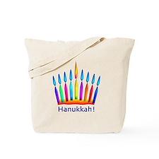 Neon Hanukkah Menorah Kids Tote Bag