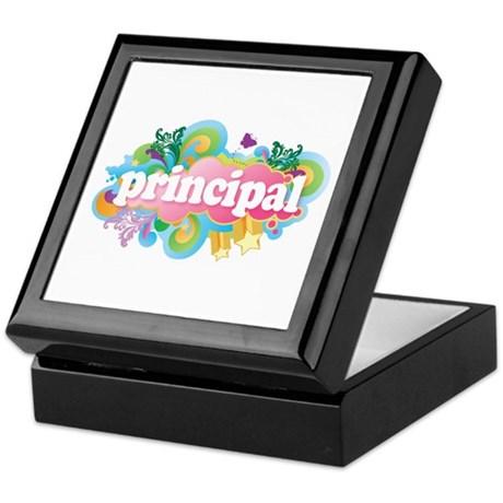 Cute Retro Principal Keepsake Box