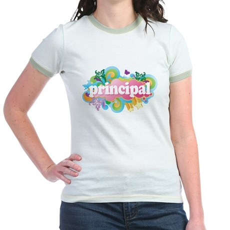 Cute Retro Principal Jr. Ringer T-Shirt