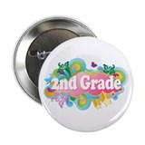 2nd Grade Retro 2.25&quot; Button