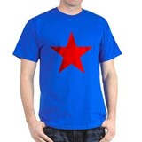 Anarchist Red Star Black T-Shirt