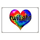 Twilight Tie-Dye Heart Banner