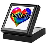 Twilight Tie-Dye Heart Keepsake Box