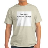 I used to care... Ash Grey T-Shirt