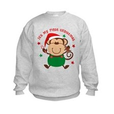 Monkey Boy 1st Christmas Sweatshirt