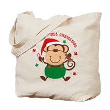 Monkey Boy 1st Christmas Tote Bag
