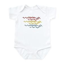 iswim water wave classic Infant Bodysuit