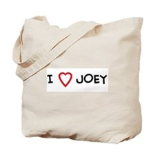 I Love JOEY Tote Bag