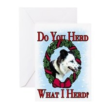 Christmas Collie Greeting Cards (Pk of 10)