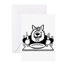 Hungry dog Greeting Cards (Pk of 10)