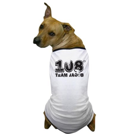 108 Degrees (black) Dog T-Shirt