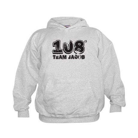 108 Degrees (black) Kids Hoodie