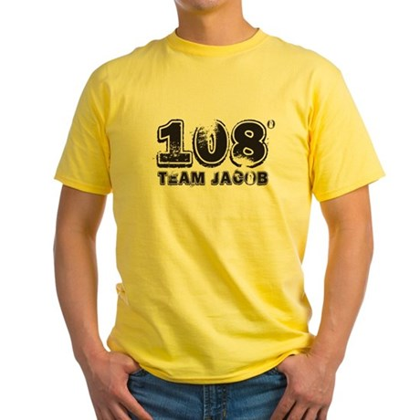 108 Degrees (black) Yellow T-Shirt