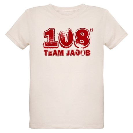 108 Degrees (red) Organic Kids T-Shirt