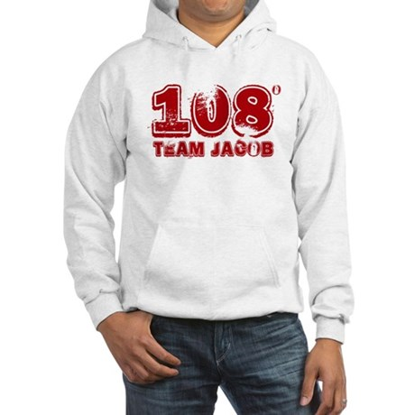 108 Degrees (red) Hooded Sweatshirt