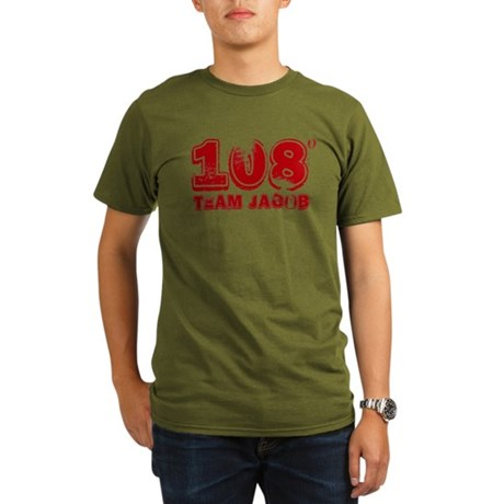 108 Degrees (red) Organic Men's T-Shirt (dark)