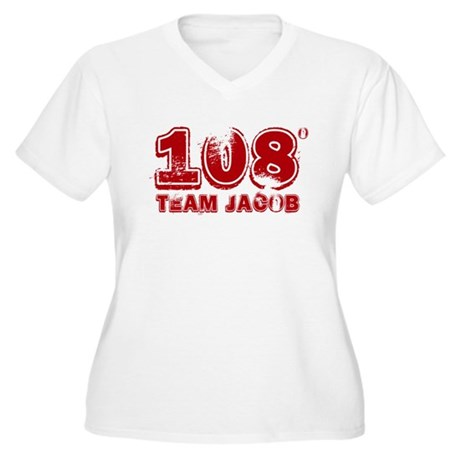 108 Degrees (red) Women's Plus Size V-Neck T-Shirt