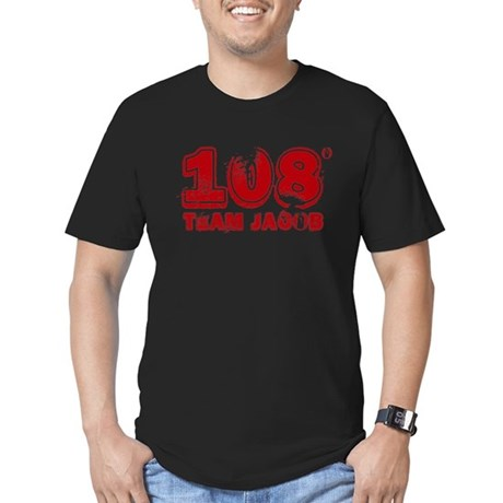 108 Degrees (red) Men's Fitted T-Shirt (dark)