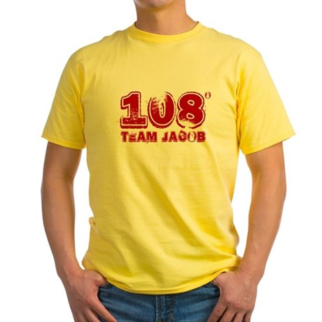 108 Degrees (red) Yellow T-Shirt