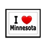 I Love Minnesota Framed Panel Print