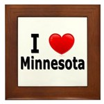 I Love Minnesota Framed Tile