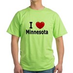 I Love Minnesota Green T-Shirt