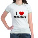 I Love Minnesota Jr. Ringer T-Shirt