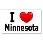 I Love Minnesota Rectangle Sticker 50 pk)