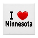 I Love Minnesota Tile Coaster