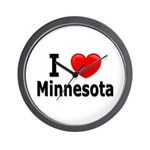 I Love Minnesota Wall Clock